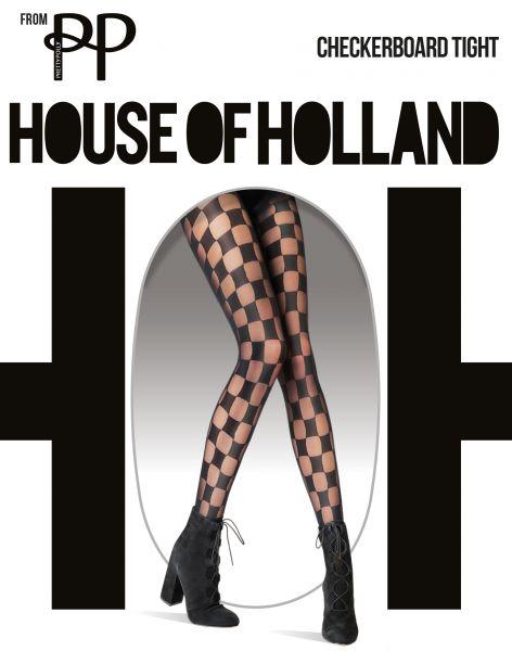 Strumpbyxa med schackbrädemönster Checkerboard från House of Holland for Pretty Polly