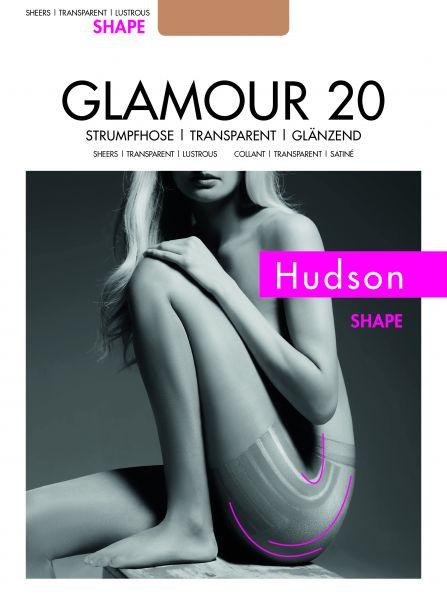 Figurformande tunn glansig strumpbyxa Glamour 20 Shape från Hudson
