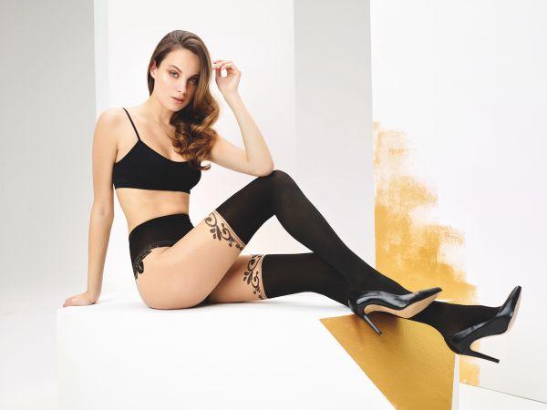 Elegant strumpbyxa i trendigt stay up-look Catherine från Omero