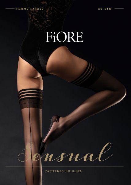 Fiore - Eleganta stay ups med söm på baksidan