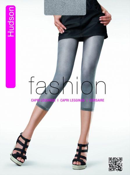 Hudson Capri Leggings i jeans-look Glossy Filet, 30 DEN
