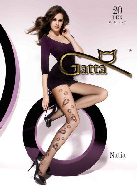 Gatta Tunna strumpbyxor med moenster Natia 20 DEN