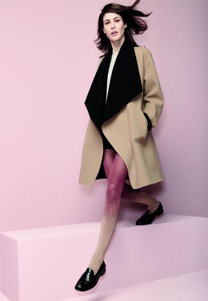 Elegant tvåfärgad strumpbyxa med mönster Brigitte från Omero