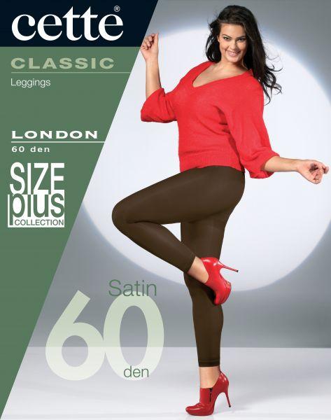 Cette Size Plus Collection - Heltäckande plus size legging utan mönster London