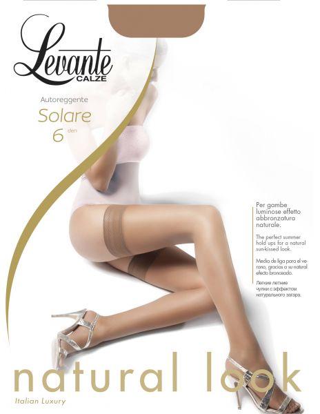 Levante Klassiska stay-ups med dekorationsband Solare, 6 DEN