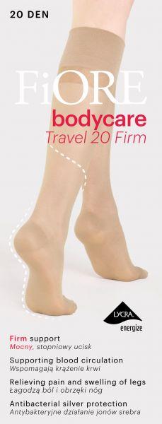 Fiore Travel Firm 20 - Knästrumpor med hög inbyggd kompression