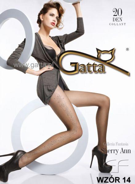 Gatta Tunna strumpbyxor med blommigt moenster Sherry Ann 14, 20 DEN