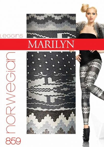 Marilyn Långa leggings med trendigt moenster Norwegian 100 DEN