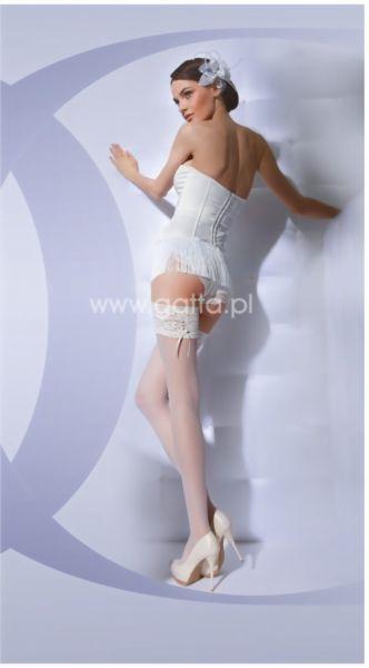 Gatta Wedding Collection - Stay ups med dekorationsband Bella Donna