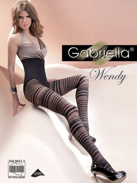 Gabriella - Randig strumpbyxa Wendy 40 den