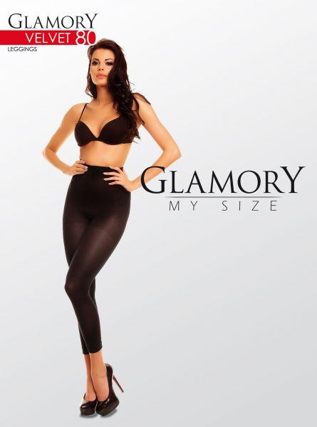 Heltäckande plus size legging utan mönster Velvet 80 från Glamory