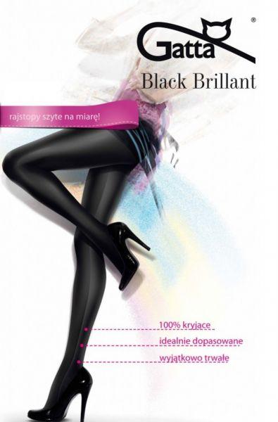 Gatta Black Brillant - Heltäckande glansig strumpbyxa