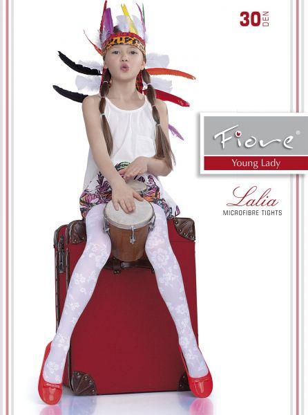 Elegant barnstrumpbyxa med blommigt mönster Lalia 30 den