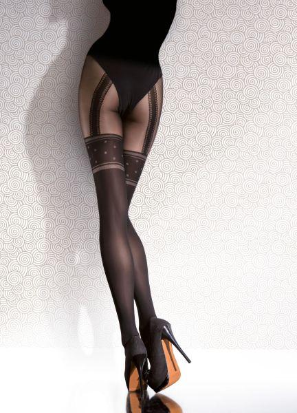 Fiore Strumpbyxa i stockings-look med prickmönster Temida