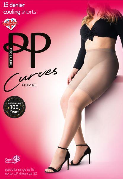 Pretty Polly Curves Cooling - Bekväma plus size trosor med kyleffekt
