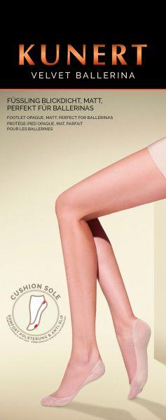 Kunert Velvet Ballerina - Bekväma footlet utan elastane