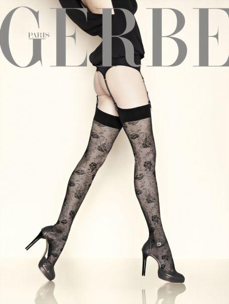 Gerbe Eleganta stockings med blommigt moenster Grand Hotel