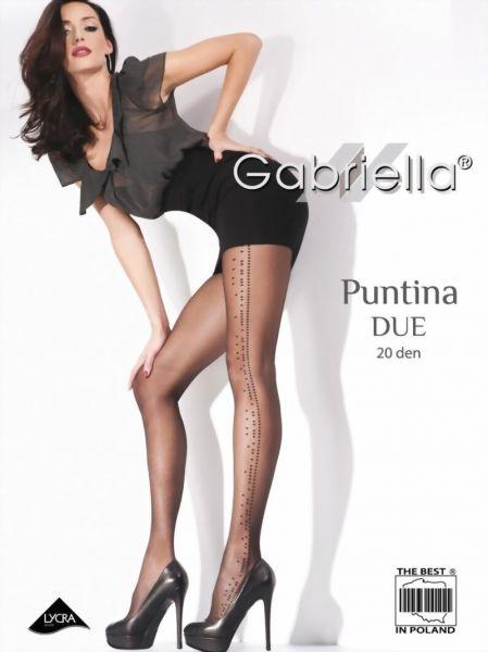 Gabriella Strumpbyxor med trendigt prickmoenster Puntina Due 20 DEN