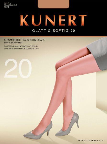 Kunert Klassisk matt strumpbyxa utan mönster Glatt & Softig 20