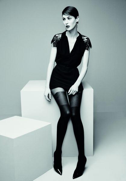 Elegant strumpbyxa i trendigt stay up-look Elodie från Omero