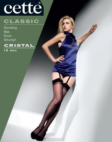 Cette - Klassiska strumpor för strumpebandshållare Cristal