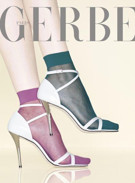 Släta sockor utan elastan Voile Gerlon 15 från Gerbe