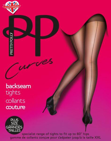 Plus Size strumpbyxa med söm Curves Backseam från Pretty Polly