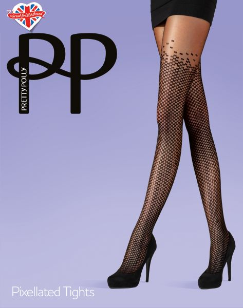 Strumpbyxa med mönster i overknee-look Pixellated Tights från Pretty Polly