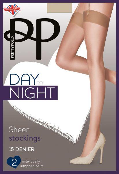2 par klassiska stockings Day to Night 15 DEN från Pretty Polly