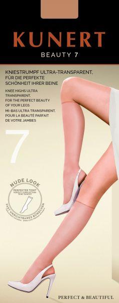 Kunert - Extremt tunna knästrumpor i nude-look Beauty 7