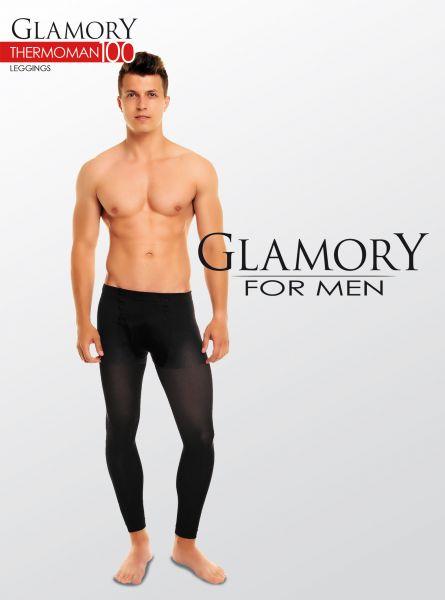 Heltäckande plus size legging för män Thermoman från Glamory