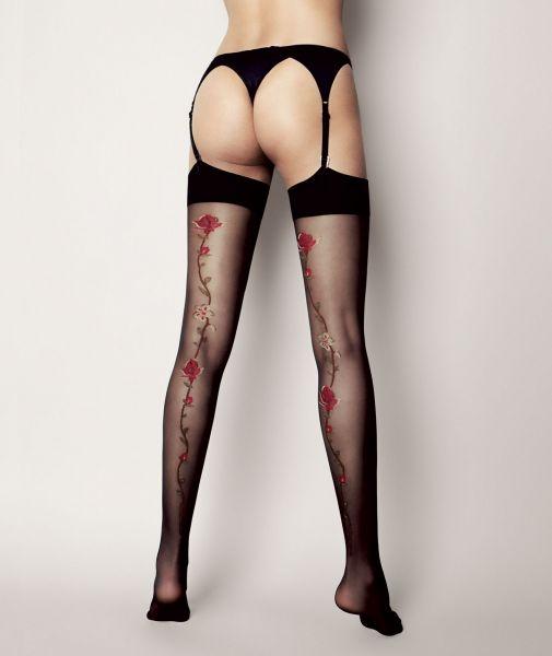 Genomskinliga stockings med blommigt mönster Madlene van Veneziana