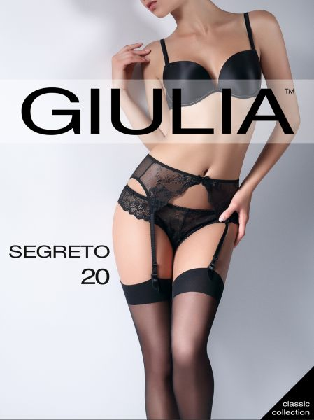 Klassiska stockings med slät kant Segreto 20 från Giulia