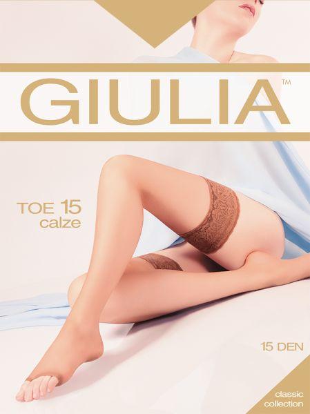 Stay ups med öppen tå Toe 15 från Giulia
