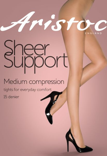 Aristoc Sheer Support - 15 denier Tunn strumpbyxa med inbyggd kompression