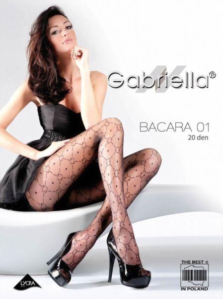 Gabriella Strumpbyxor med trendigt rutmoenster Bacara 01, 20 DEN