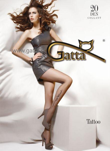Gatta Tunna strumpbyxor med blommigt moenster Tattoo 20 DEN