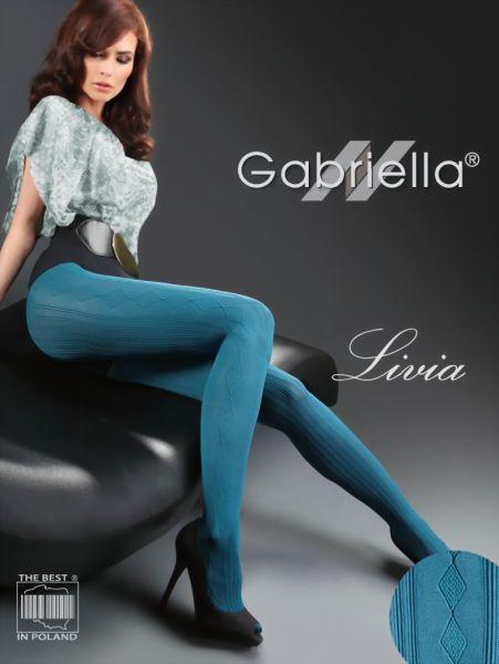 Gabriella Elegant strumpbyxa med rand- och rutmoenster Livia, 60 DEN
