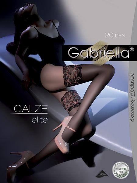 Eleganta stay-ups med spetskant Elite från Gabriella