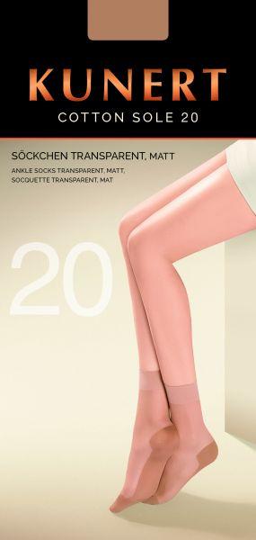 Kunert - Långa sockor med sula i bomull Cotton Sole 20