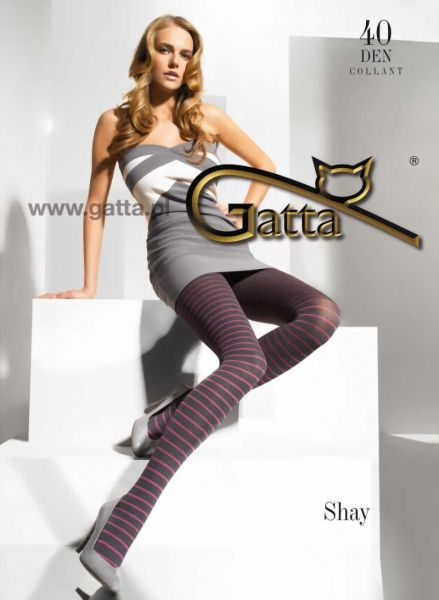 Gatta Strumpbyxor med randmoenster Shay 04, 40 DEN