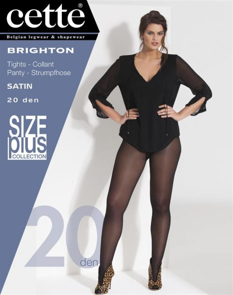 Cette Size Plus Collection - 20 denier plus size strumpbyxa utan mönster Brighton