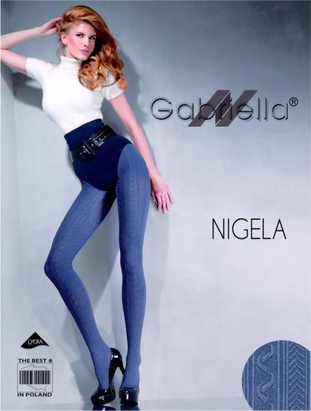 Gabriella Elegant strumpbyxa med moenster Nigela, 60 DEN
