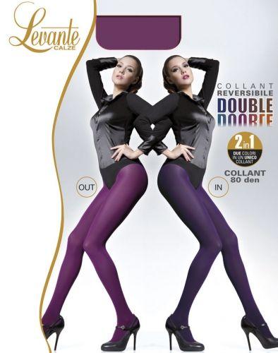 Slät strumpbyxa i två färger Double från Levante, 80 denier