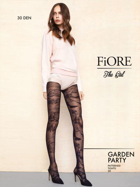 Elegant strumpbyxa med trendigt fjärilsmönster Garden Party från Fiore