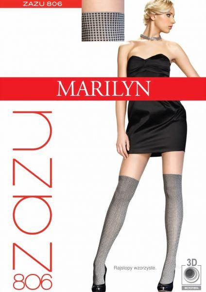 Marilyn Strumpbyxor med foerfoeriskt moenster Zazu 40 DEN