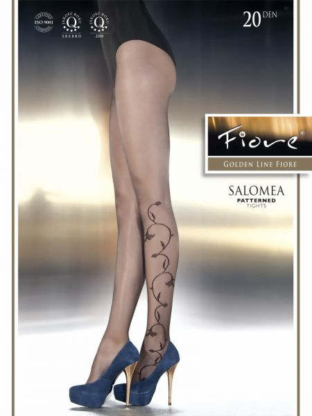 Fiore Tunna strumpbyxor med diskret floralt moenster Salomea, 20 den