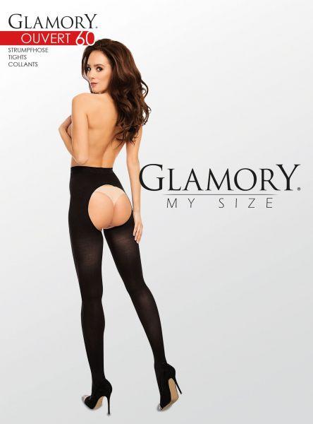Heltäckande plus size strumpbyxa Ouvert 60 från Glamory