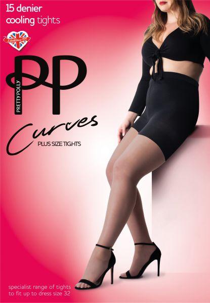 Pretty Polly Curves Cooling - Bekväm plus size strumpbyxa med kyleffekt