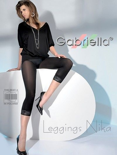 Leggings med dekorativ spets Nika fr